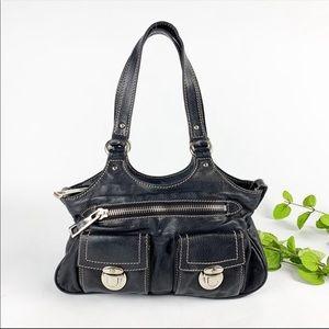 Marc Jacobs Black Leather Mini Stella Satchel